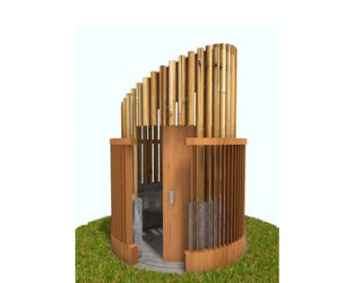 Sustainable Public Toilet Outdoor
