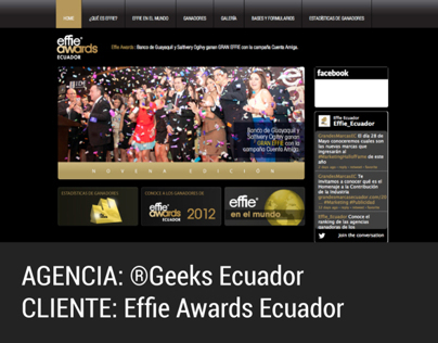 Sitio Institucional Effie Awards Ecuador