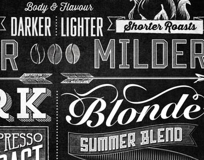 Starbucks Roast Guide Typographic Mural