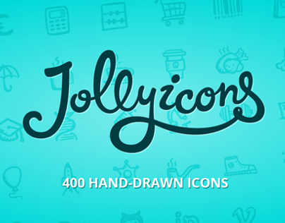 Jolly Icons — 400 Hand-drawn Vector Icons