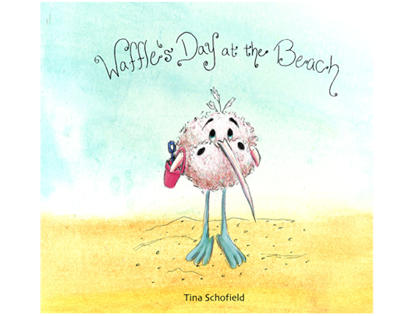 """Waffle's Day at the Beach"""