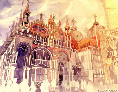 architectural watercolors