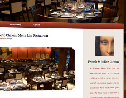 Chateau Mona Lisa Restaurant website.