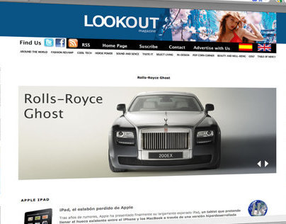 LookOut Magazine 2010 redesign.