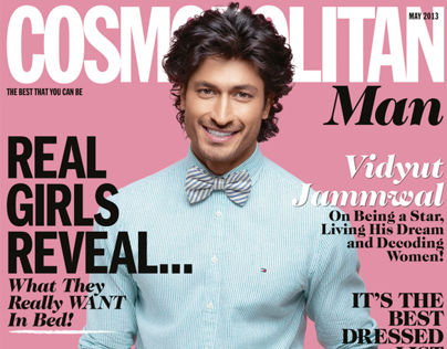 Vidyut for the Cover of Cosmopolitan Man, May 2013