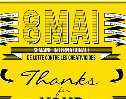 8 Mai - International Week Against Creativicides