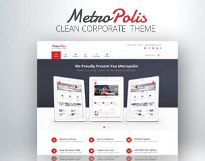 Metropolis - Clean Corporate PSD Theme