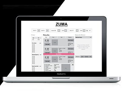 Zuma - travel comparison website