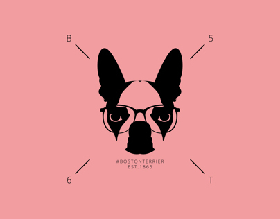 Hipster Boston Terrier Print