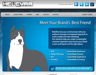 Website Design for Kelevra Ideas