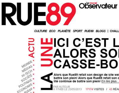 Rue89 - with Thomas Crecq and Aurélie Gleizes
