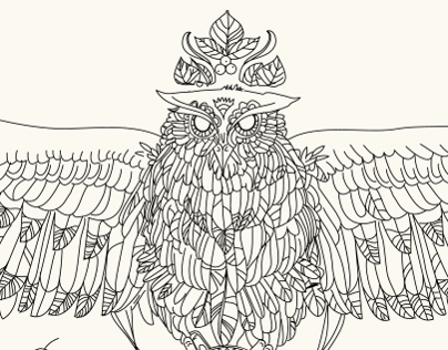 Owl Cup Illustration