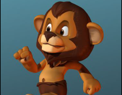 Lion  3d Cartoon