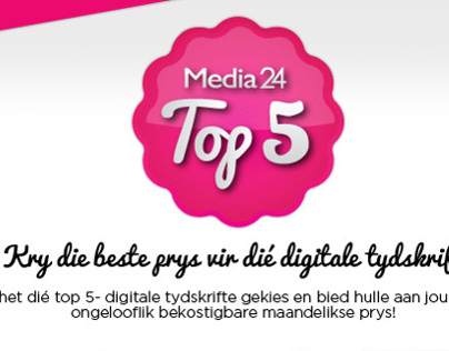 Media24 Digital Magazines Top 5 Mailer Design