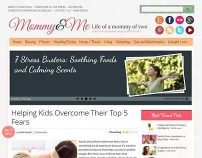 Mommy & Me WordPress Theme - Blogging WP Theme