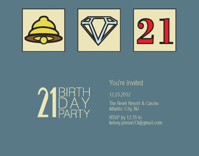 Personal Invitation - 21st Birthday