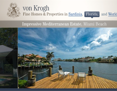 von Krogh Fine Homes & Properties. Real Estate Website