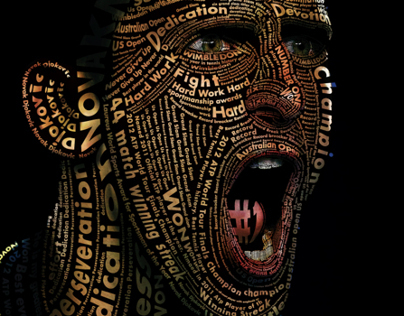 Djokovic Typographic Portrait