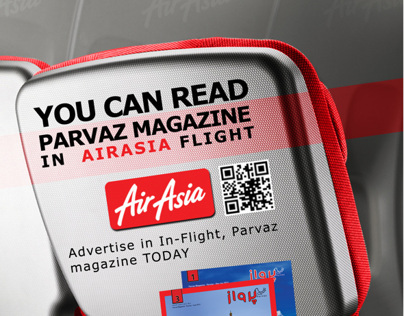 Advertising for air asia in flight magazine