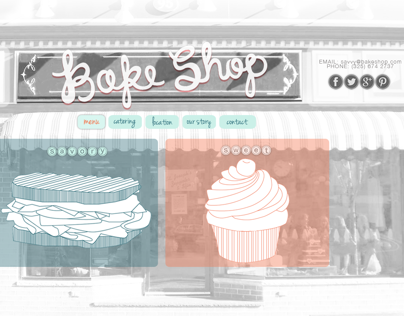 Bake Shop Website Conception