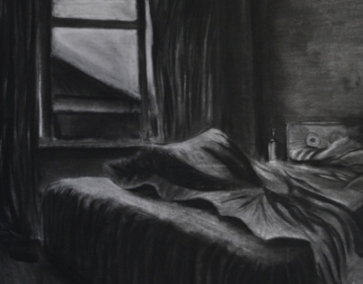 The Unseen A series made from chalk and charcoal