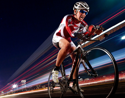 Cyclist: Light Trails