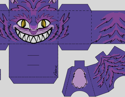 Cheshire cat Blockhead