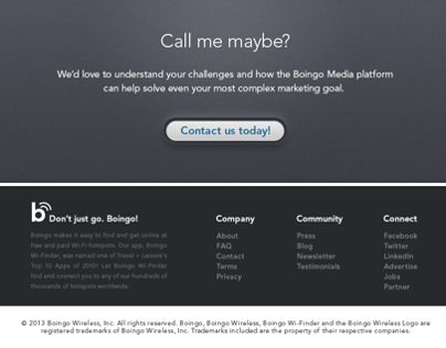 Boingo Media - B2B Sales Site Redesign