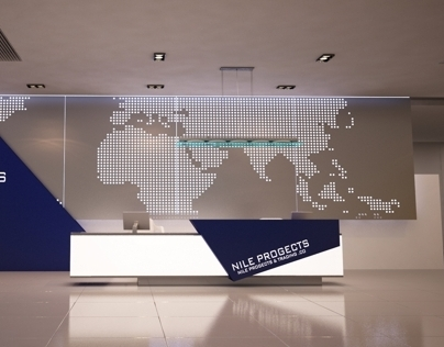 Company Reception Counter Design
