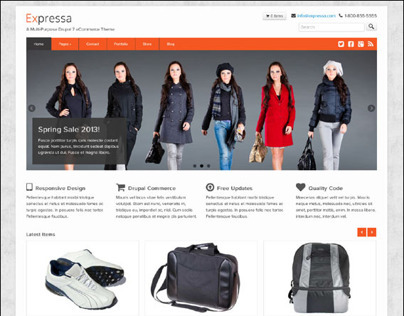 Expressa, Drupal Responsive Business eCommerce Theme