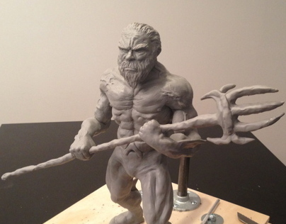Creating aquaman sculpture