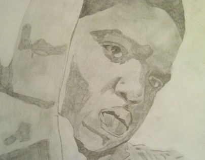 Pencil sketch - Notorious B.I.G (Biggie Smalls)