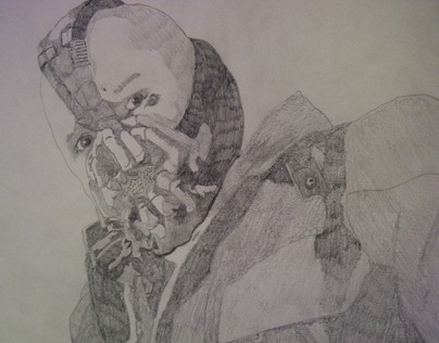Pencil sketch - Bane (The Dark knight rises)