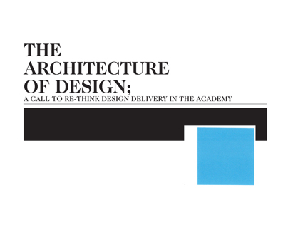 THE ARCHITECTURE OF DESIGN  - sample leture/pres 2012