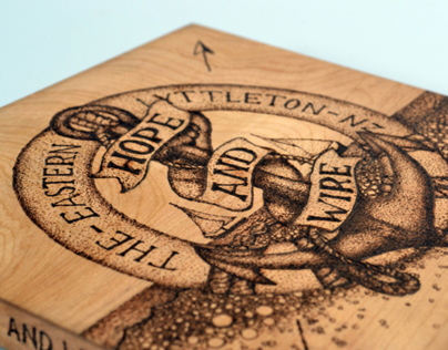 'THE EASTERN' pyrography album art