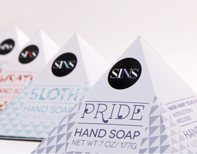 Seven Soaps to Wash Away Your Sins Branding & Packaging