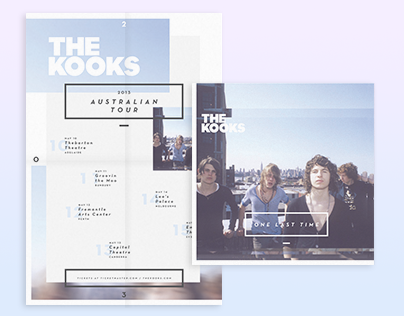 The Kooks Australian Tour Poster / Record