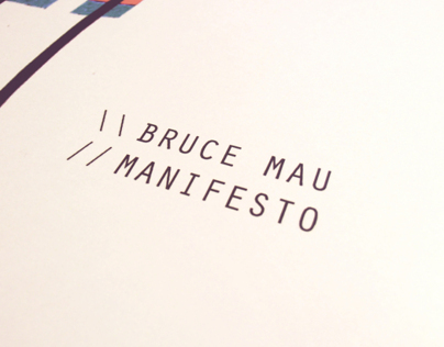 Bruce Mau - Incomplete Manifesto for Growth