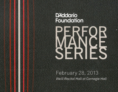 Writing, Branding, PR • DAddario Performance Series