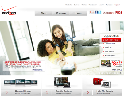 Verizon FiOS - Website