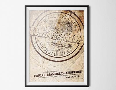 Década, a Céspedes event Poster
