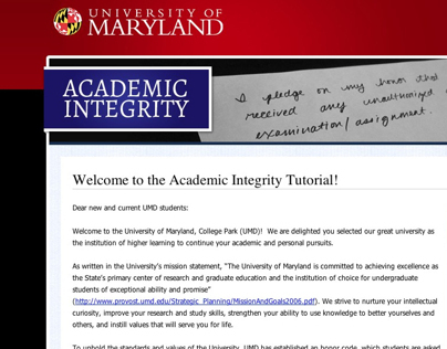 Academic Integrity - Website