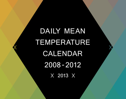 Daily Mean Temperature Calendar 2008-2012 (2013)
