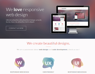 Squarefox - Unique Multipurpose Responsive Website