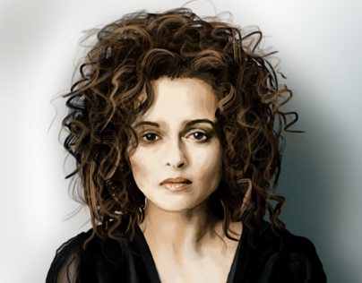 Photoshop Painting - Helena Bonham Carter