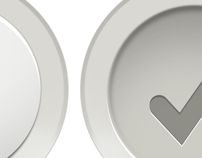 White Pop-Out Check Buttons