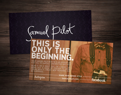 Samuel Pilot Welcome Card