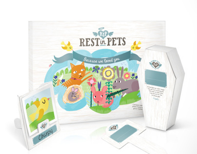 Rest In Pets: Biodegradable cardboard pet caskets