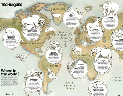 World Map for Digital Photographer magazine