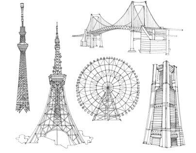 Illustrations of Tokyo for The New York Times